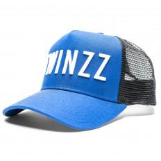 Modrá kšiltovka 3D Mesh Trucker s bílým nápisem TWINZZ