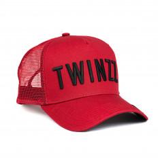 Červená kšiltovka Twinzz Tricolor