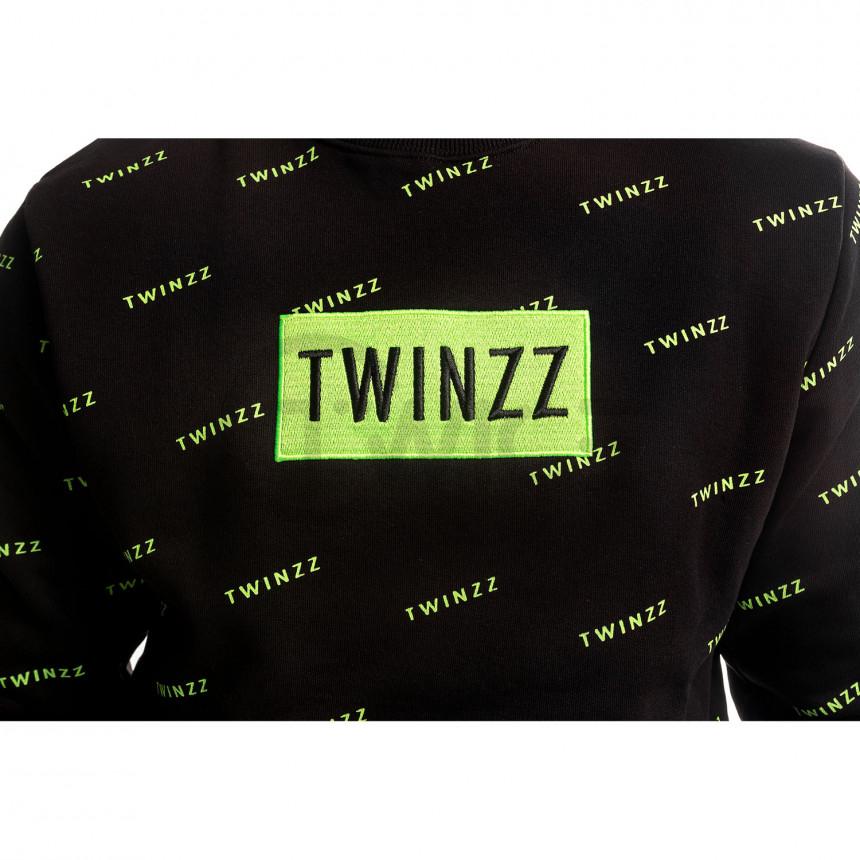 Černá mikina Twinzz Pinellii