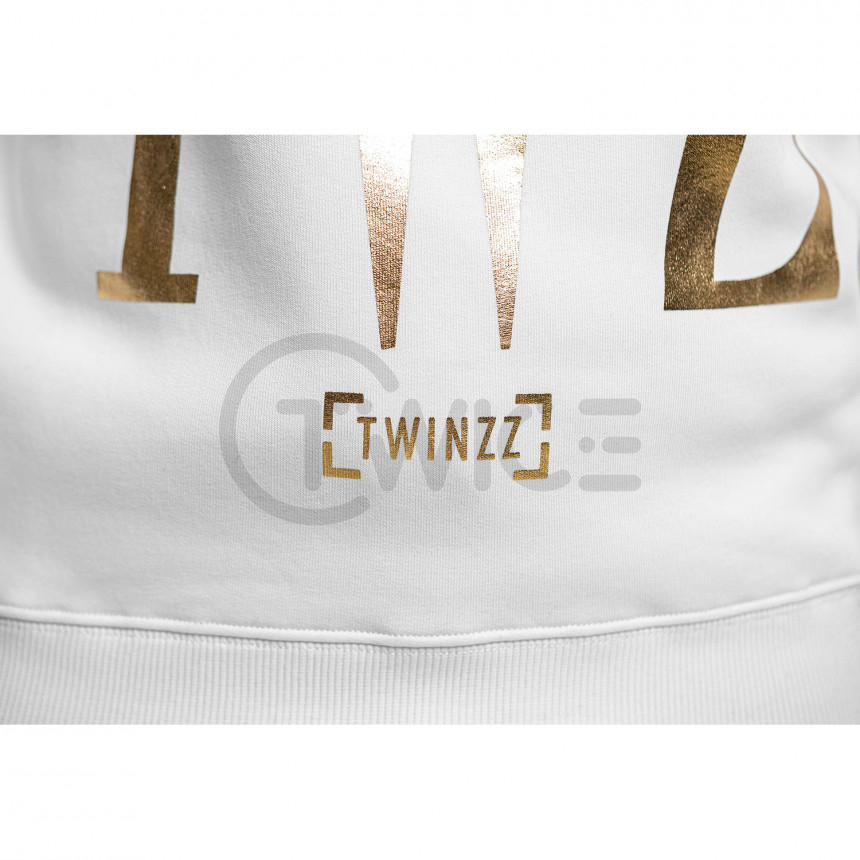 Bílá mikina TWINZZ Rossi White Gold