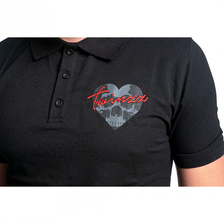 Černé polo tričko Vario skullheart