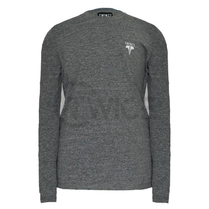 Pánské šedé tričko s dlouhým rukávem Twinzz Active Core Longsleeve