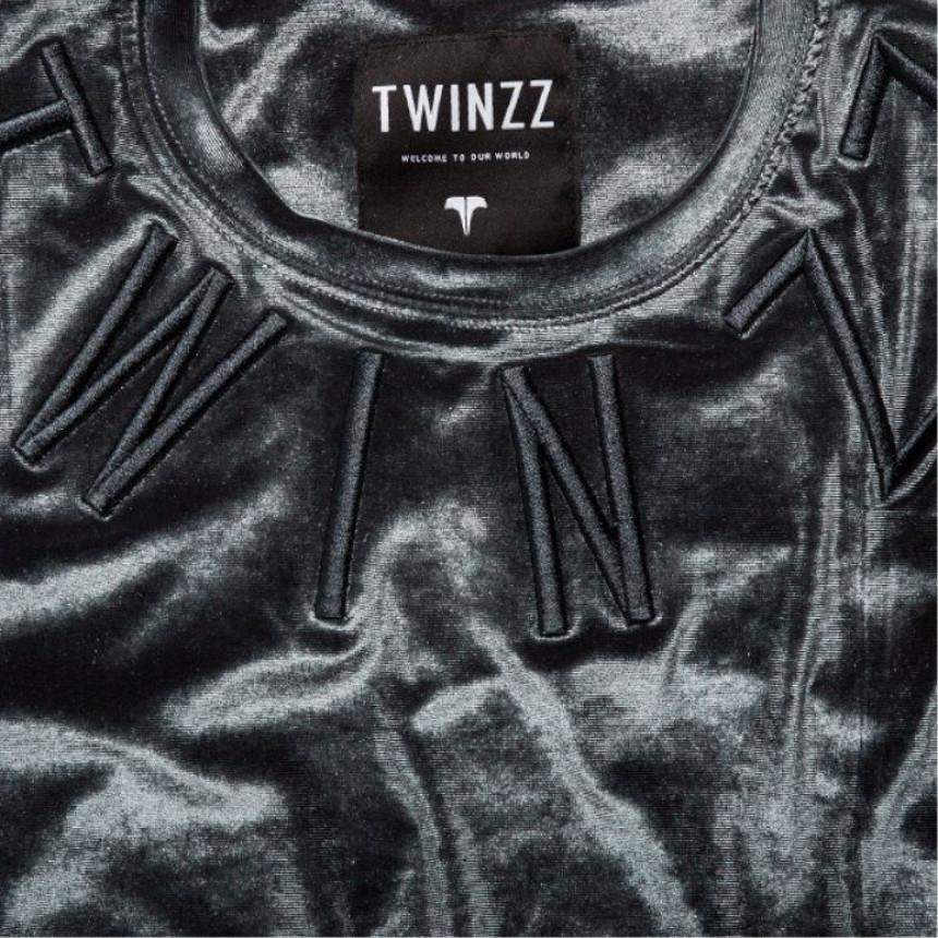 Šede tričko Twinzz Clone Charcoal