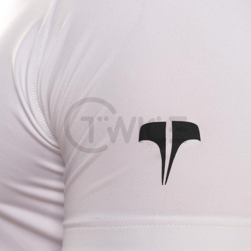 Bílé kompresní tričko Twinzz s krátkým rukávem