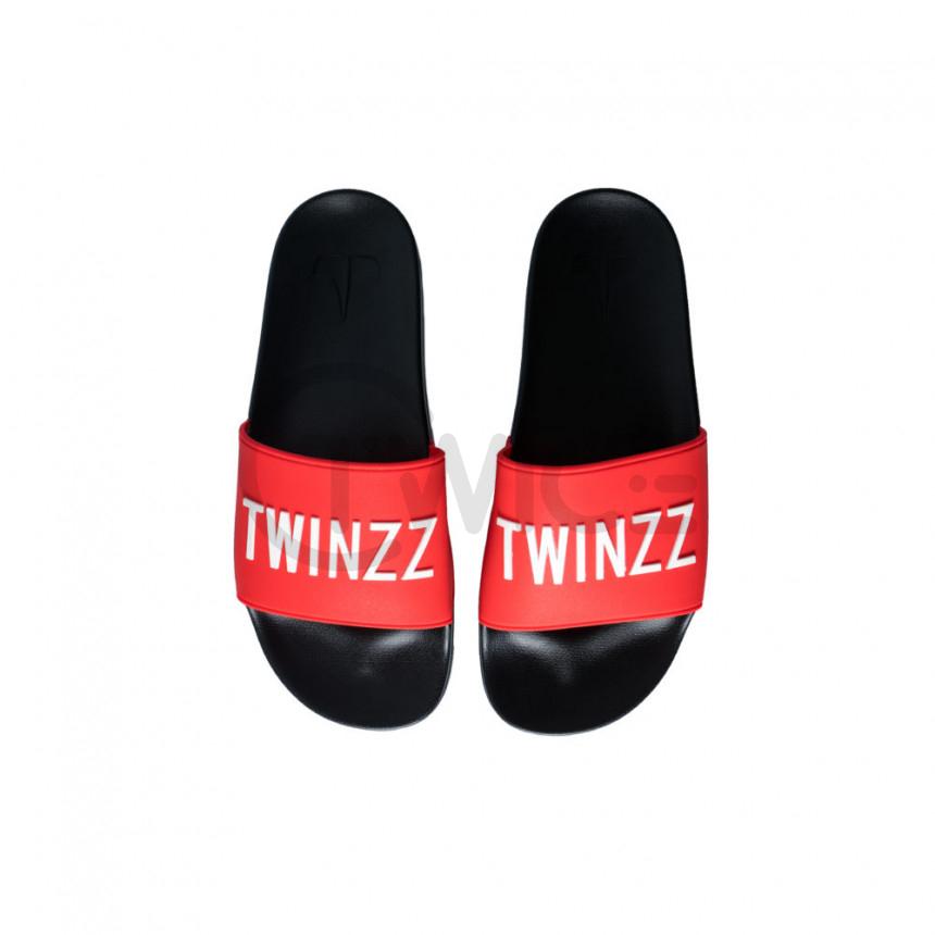 Červené pantofle TWINZZ Positano Slide