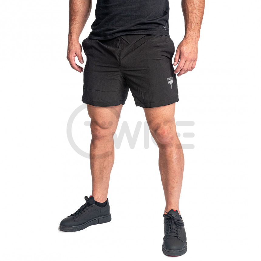 Pánské černé sportovní kraťasy Twinzz Lunge Active short