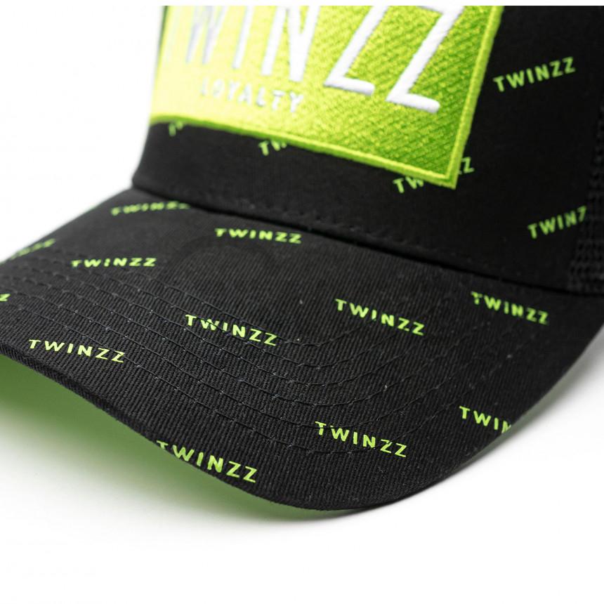 Černo zelená kšiltovka Twinzz Trucker Pinelli