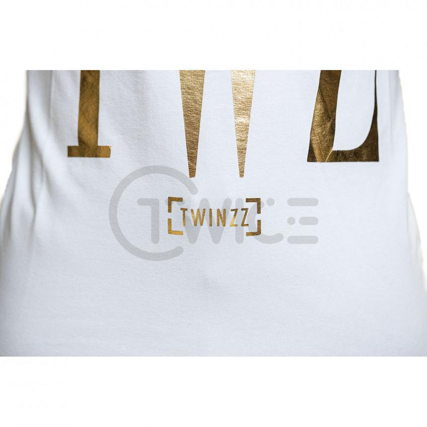 Bílé tričko TWINZZ Rossi White Gold
