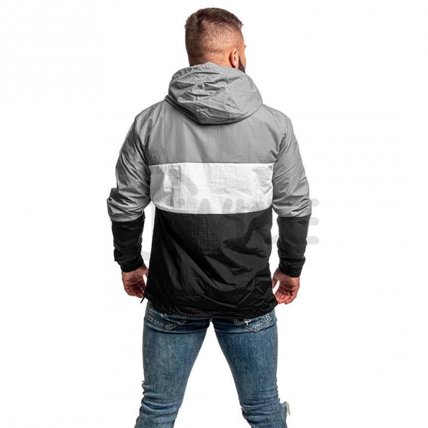 Černo šedá větrová bunda s nápisem Twinzz LUCAS