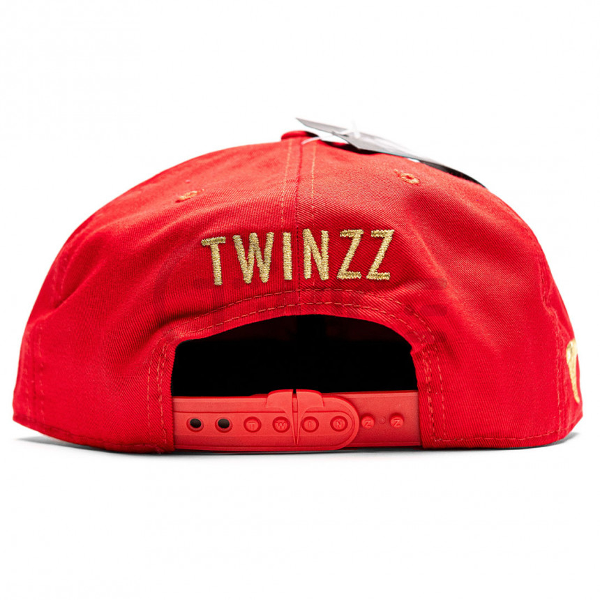 Červená kšiltovka snapback TWINZZ BENGORO
