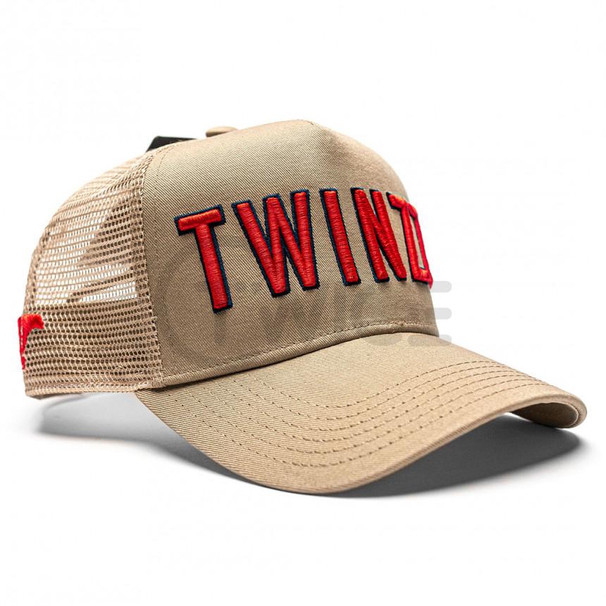 Hnědá kšiltovka TWINZZ 3D Mesh trucker