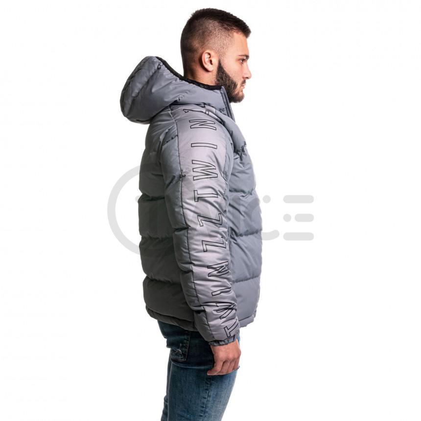 Šedá zimní bunda GALLO PUFFA JACKET