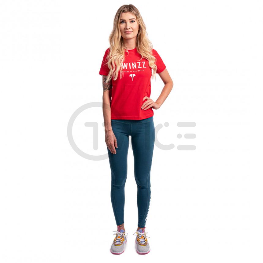 Dámské červené tričko Twinzz Active Our World Graphic tee