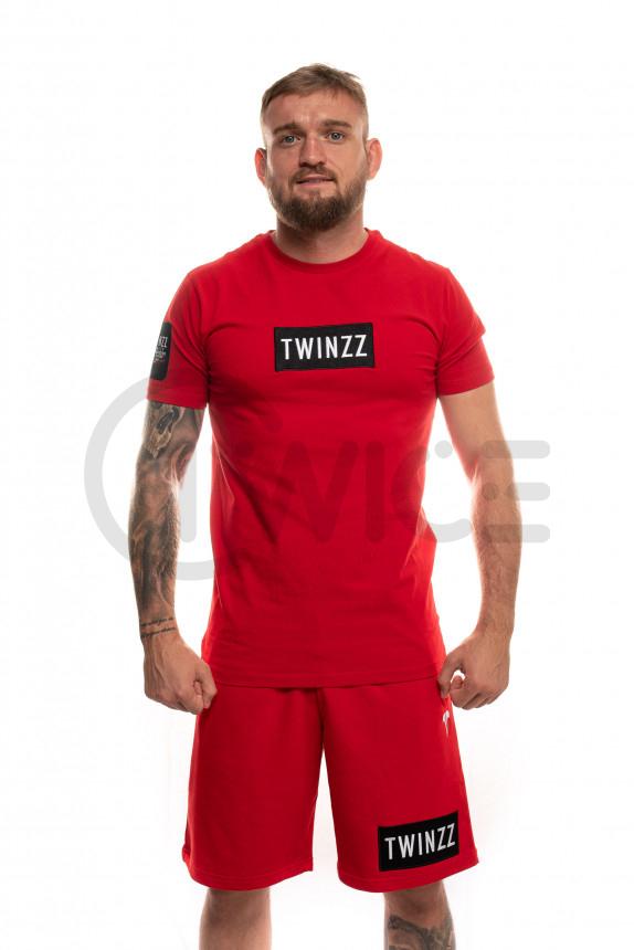 Červené kraťasy Twinzz Azzuro