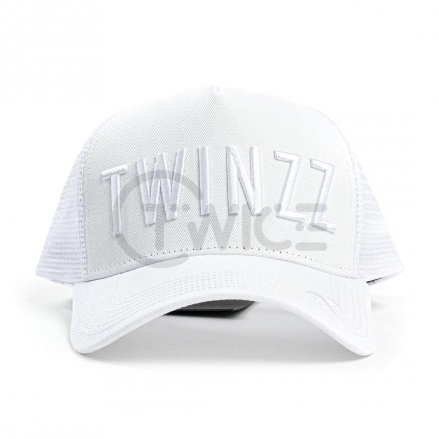 Bílá kšiltovka Twinzz Tricolor