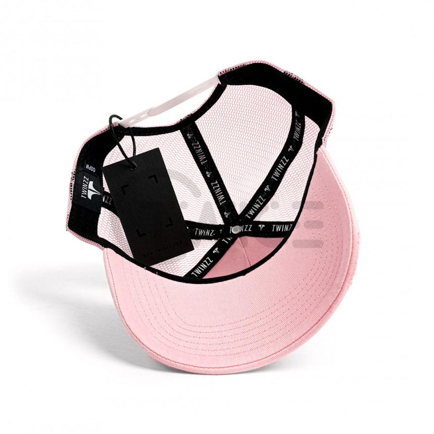 Růžová kšiltovka Twinzz Rockland Baby Pink