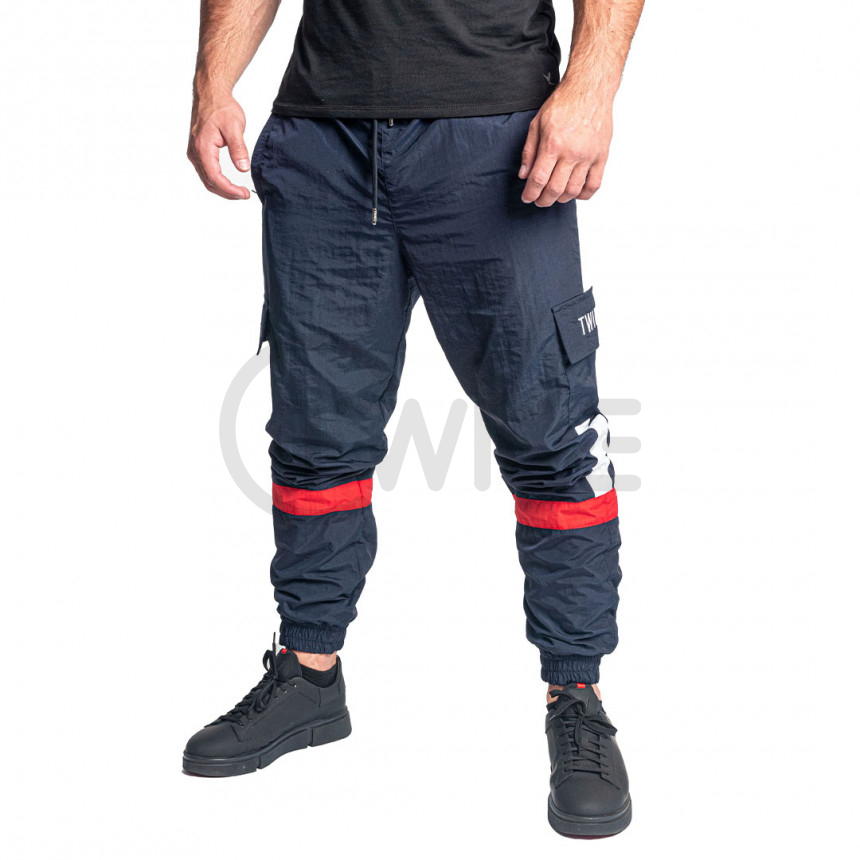 Modré kalhoty s kapsami na bocích LUCAS