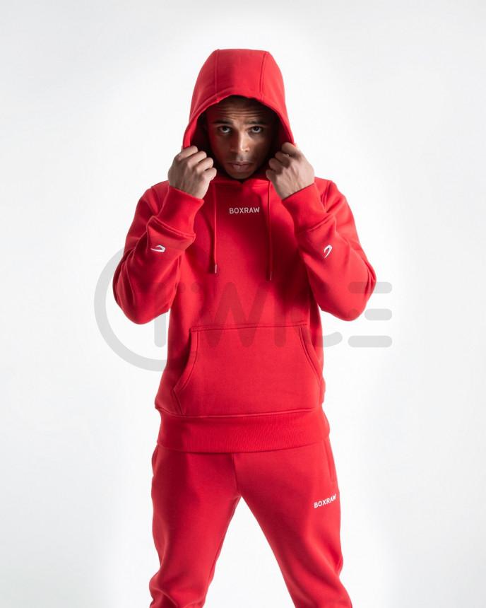 Červená mikina Boxraw Johnson s kapucí
