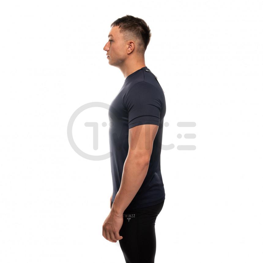 Modré kompresní tričko Twinzz s krátkým rukávem