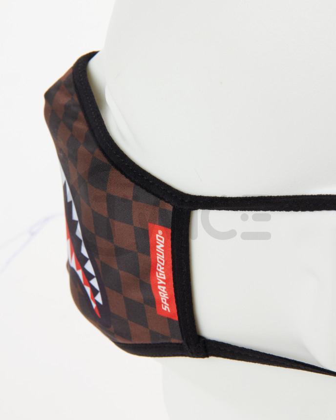 Rouška Sprayground Sharks in Paris Brown Fashion Mask
