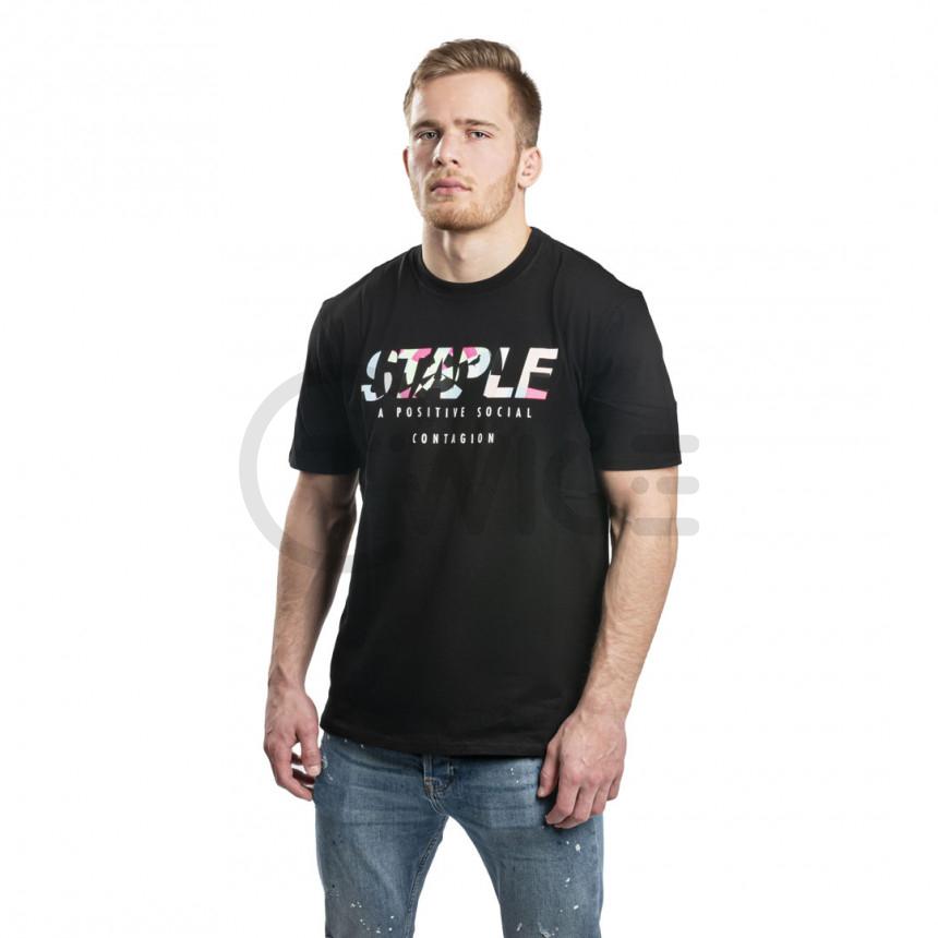 Černé tričko Staple Pigeon Chromatic tee