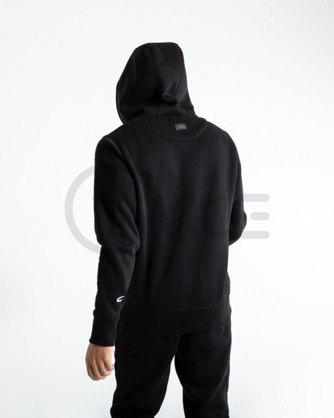 Černá mikina Boxraw Johnson s kapucí