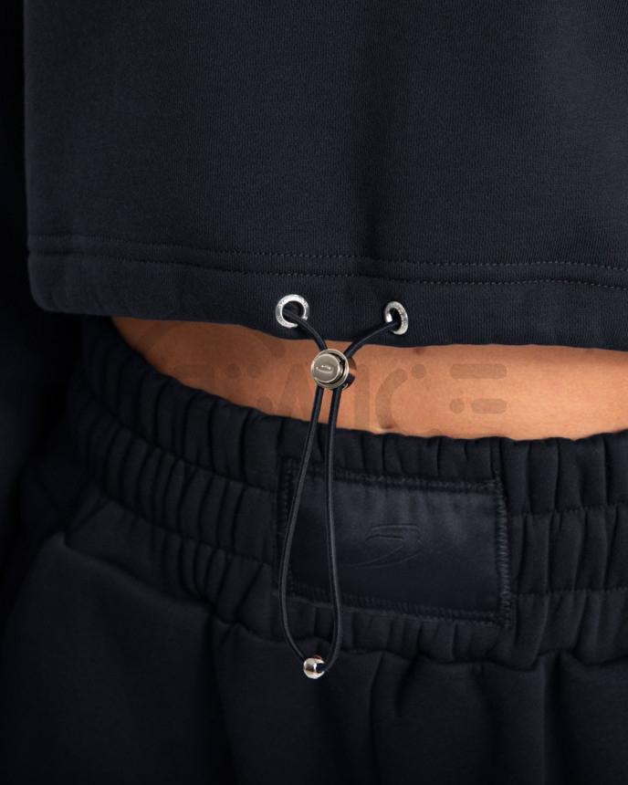 Dámská černá mikina Boxraw Johnson Cropped