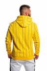 Žlutá mikina s kapucí TWINZZ Virgili Stripe