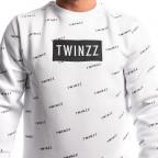 Bílá mikina Twinzz Pinellii