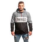 Černšedá větrová bunda s nápisem Twinzz LUCAS