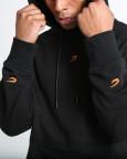 Černá mikina Boxraw WDPB s kapucí