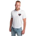 Bílé polo tričko Vario Skullheart