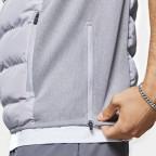 Šedá sportovní vesta Zip Gillet