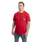Červené tričko Staple Pigeon Pocket Sum tee