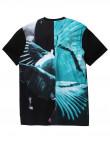 Modro černé tričko Staple Pigeon Split photo tee