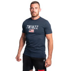 Modré tričko s vlajkou Twinzz VINCENT