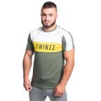 Zelené khaki tričko Twinzz Nelson