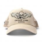 Hnědá kšiltovka TWINZZ Winged Skull Trucker