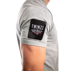 Šedé tričko Twinzz Azzuro