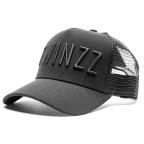 Černá kšiltovka trucker 3D Mesh s černým nápisem TWINZZ
