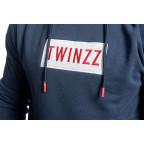 Modrá mikina Twinzz Azzuro