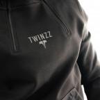 Černá mikina Twinzz Double Zip
