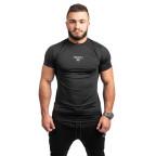 Černé kompresní tričko Twinzz s krátkým rukávem