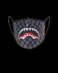 Rouška Sprayground Grey Checkered Shark Fashion Mask