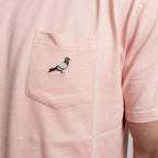 Růžové tričko Staple Pigeon Garment Wash pocket